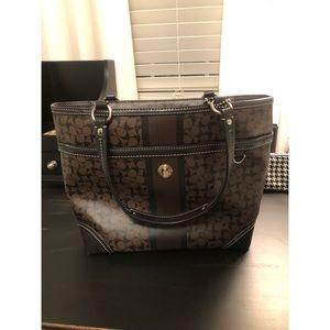 coach monogram short strap purse